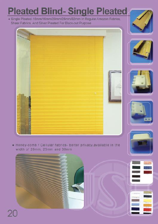 pleated blind, honey comb blind